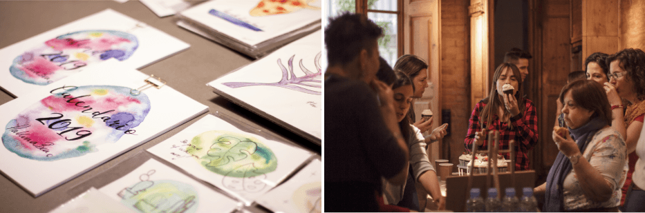 Course of watercolors in The baSEment Barcelona: ''Draw your limits''